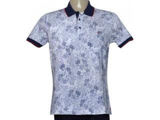 Camisa Masculina Individual 98306.22222.379 Branco/marinho/vermelho - Tamanho Médio