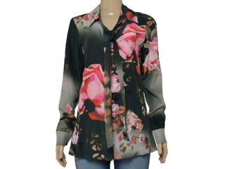 Camisa Feminina Lafort E16i729 Rosa/militar - Tamanho Médio