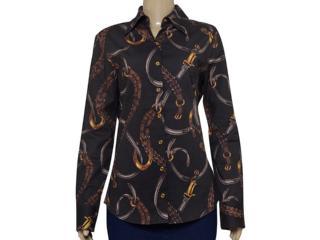 Camisa Feminina Lafort E121433 Marrom - Tamanho Médio