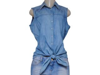 Camisa Feminina M.officer 116203017 Jeans - Tamanho Médio