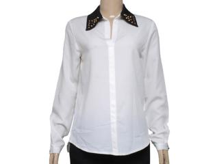 Camisa Feminina M.officer 115621007 Off White - Tamanho Médio