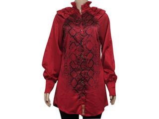Camisa Feminina Moikana 6125 Vermelho - Tamanho Médio