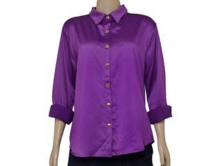 Camisa Feminina Moikana 1511108 Roxo - Tamanho Médio