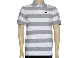 Camisa Masculina Nike 637624-063 Matchup Polo-yd Stripe 2 Mescla/branco - Tamanho Médio