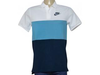 Camisa Masculina Nike 847646-103 Nsw Polo pq Matchup  Branco/azul/marinho - Tamanho Médio