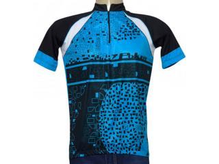 Camisa Masculina Poker 04931 Azul/preto/branco - Tamanho Médio