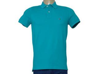 Camisa Masculina Tommy Th0857894237 Verde - Tamanho Médio