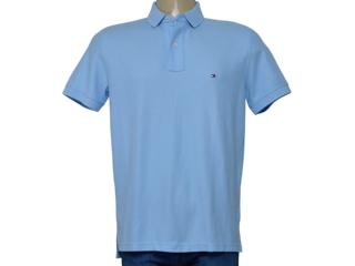 Camisa Masculina Tommy Th0857889198 Azul Claro - Tamanho Médio