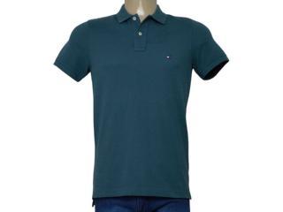 Camisa Masculina Tommy Th0857879131 Verde - Tamanho Médio