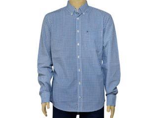 Camisa Masculina Tommy Th0887837835 Xadrez Azul - Tamanho Médio
