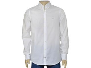 Camisa Masculina Tommy Th0857883806 Branco - Tamanho Médio