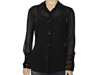 Camisa Feminina Lafort E13i062 Preto - Tamanho Médio