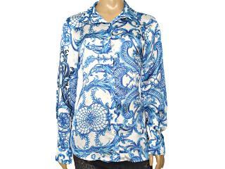 Camisa Feminina Lafort E14v366 Azul Estampado - Tamanho Médio