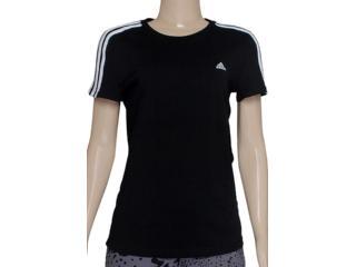 Camiseta Feminina Adidas X21790 Ess 3s Wom Preto - Tamanho Médio
