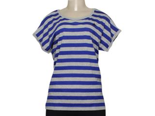 Camiseta Feminina Adidas M66537 Seasonal Cinza/azul - Tamanho Médio
