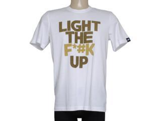 Camiseta Masculina Adidas M31028 Light up Branco - Tamanho Médio