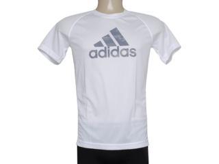 Camiseta Masculina Adidas F48619 Clima Ess Log Branco - Tamanho Médio
