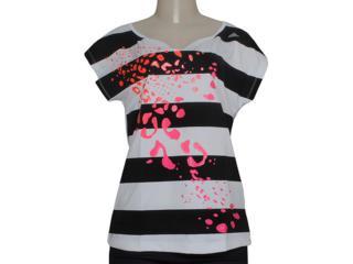 Camiseta Feminina Adidas M64093 ct Graphic Teed  Branco/preto - Tamanho Médio