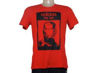 Camiseta Feminina Adidas Aa4242 Iron Man Vermelho - Tamanho Médio
