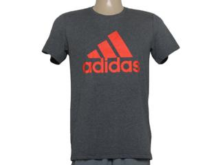 Camiseta Masculina Adidas Ab6564 Ess Logo Cinza Escuro - Tamanho Médio