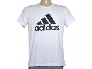 Camiseta Masculina Adidas S23015 Ess Logo Branco - Tamanho Médio