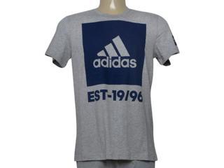 Camiseta Masculina Adidas Cd9146 Overbranding Mescla/marinho - Tamanho Médio