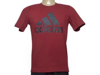 Camiseta Masculina Adidas Cz7512 Ess Linea Vinho - Tamanho Médio