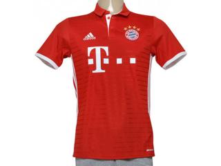 Camiseta Masculina Adidas Ai0049 Bayern i Vermelho - Tamanho Médio