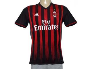 Camiseta Masculina Adidas Ap7964 Milan i Marrom/vermelho - Tamanho Médio