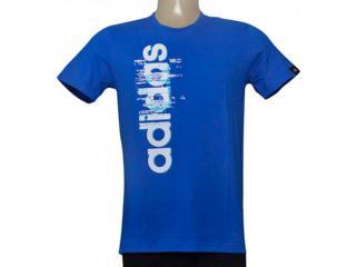 Camiseta Masculina Adidas Ay7180 Ess Linear Azul - Tamanho Médio