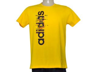 Camiseta Masculina Adidas Ay7179 Ess Linear Amarelo - Tamanho Médio