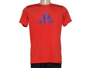 Camiseta Masculina Adidas Ab2516 Pes Print 1 Vermelho - Tamanho Médio