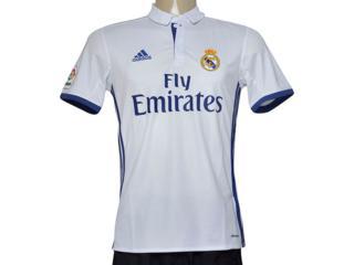 Camiseta Masculina Adidas S94992 Real Madri i Branco/marinho - Tamanho Médio