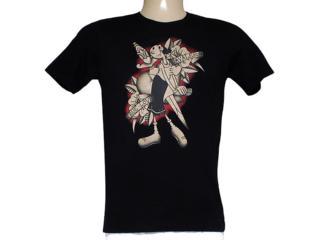 Camiseta Masculina Cavalera Clothing 01.01.7842 Preto - Tamanho Médio