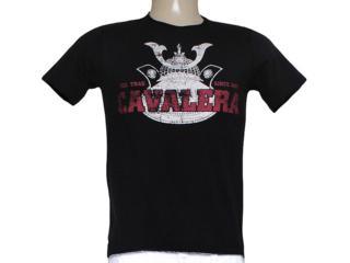 Camiseta Masculina Cavalera Clothing 01.01.7456 Preto - Tamanho Médio