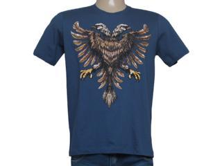 Camiseta Masculina Cavalera Clothing 01.01.8259 Aguia Real Azul Escuro - Tamanho Médio