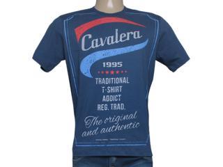 Camiseta Masculina Cavalera Clothing 01.01.8135 Azul Escuro - Tamanho Médio