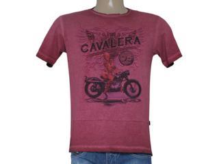 Camiseta Masculina Cavalera Clothing 01.01.8202 Motorcicl Bordo Estonado - Tamanho Médio