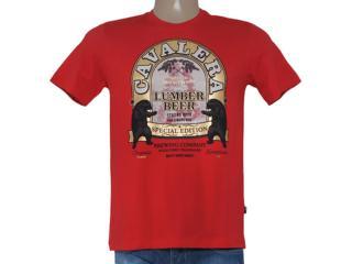 Camiseta Masculina Cavalera Clothing 01.01.8186 Vermelho - Tamanho Médio