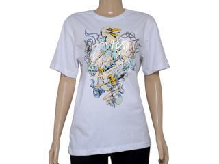 Camiseta Masculina Cavalera Clothing 01.01.8214 Falcon Branco - Tamanho Médio