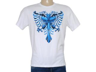 Camiseta Masculina Cavalera Clothing 01.01.8155 Aguia Transformer Branco - Tamanho Médio