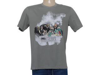 Camiseta Masculina Cavalera Clothing 01.01.8213 Cinza - Tamanho Médio
