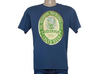Camiseta Masculina Cavalera Clothing 01.01.8244 Azul Escuro - Tamanho Médio