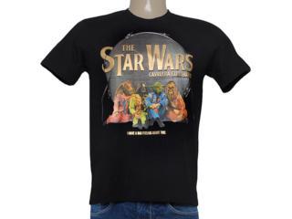 Camiseta Masculina Cavalera Clothing 01.01.8146 Star Whars Preto - Tamanho Médio