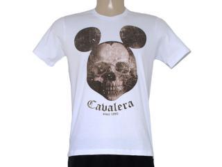 Camiseta Masculina Cavalera Clothing 01.01.8133 Caveira Mikey Branco - Tamanho Médio