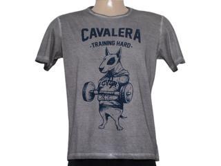 Camiseta Masculina Cavalera Clothing 01.01.8312 Cinza Estonado - Tamanho Médio