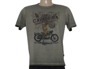 Camiseta Masculina Cavalera Clothing 01.01.8202 Motorcicle Militar - Tamanho Médio