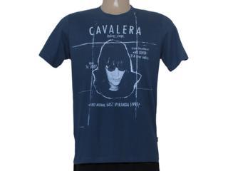 Camiseta Masculina Cavalera Clothing 01.01.8348 Ramone Azul Escuro - Tamanho Médio
