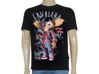 Camiseta Masculina Cavalera Clothing 01.01.8650 Preto - Tamanho Médio