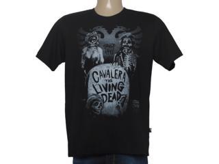 Camiseta Masculina Cavalera Clothing 01.01.8658 Preto - Tamanho Médio